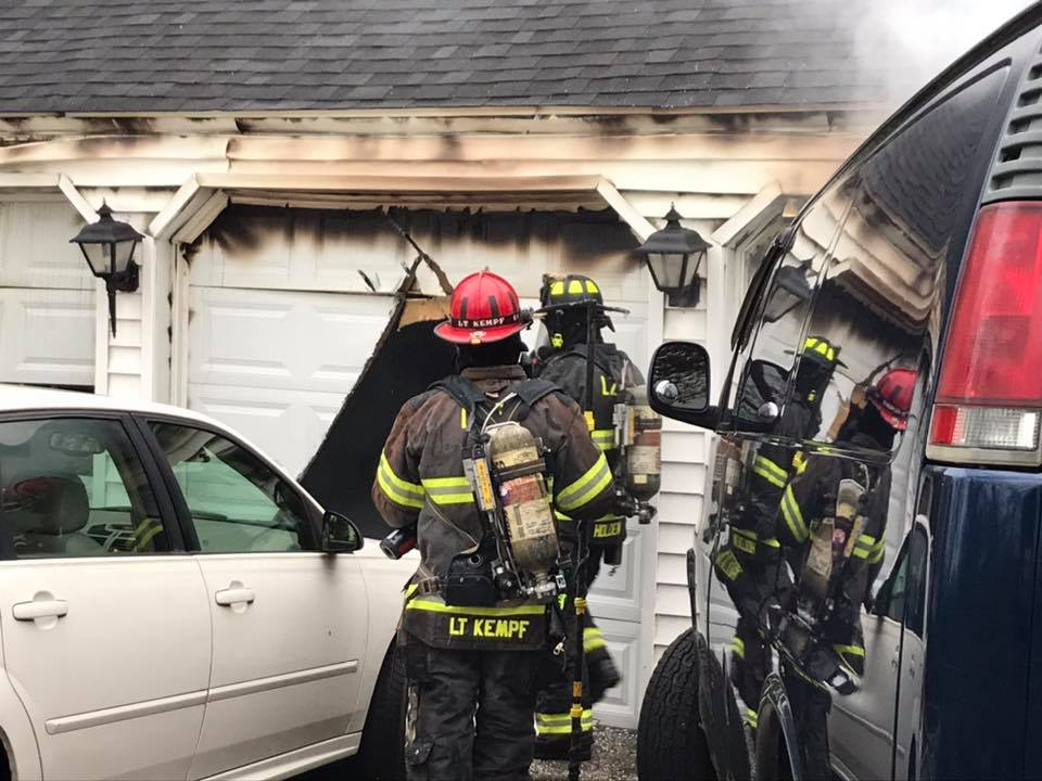 23900 block of N. Quentin Road for a fire in a detached garage